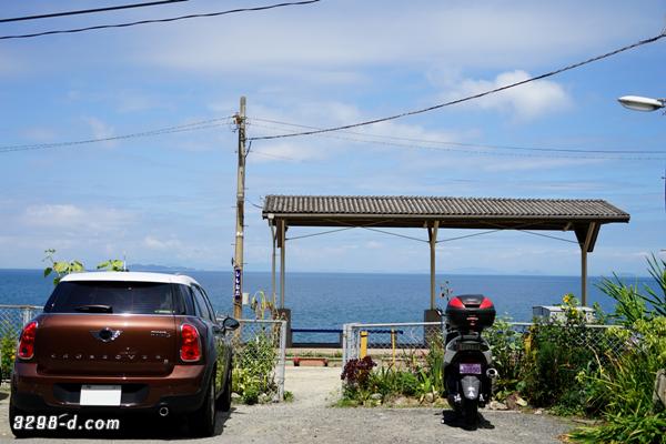 元日本一海に近い駅、下灘駅から海を眺めるMINIクロスオーバー