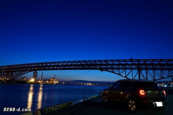 MINIクロスオーバー・ナナガン(大阪港第三突堤第七岸壁)にて夜景撮影