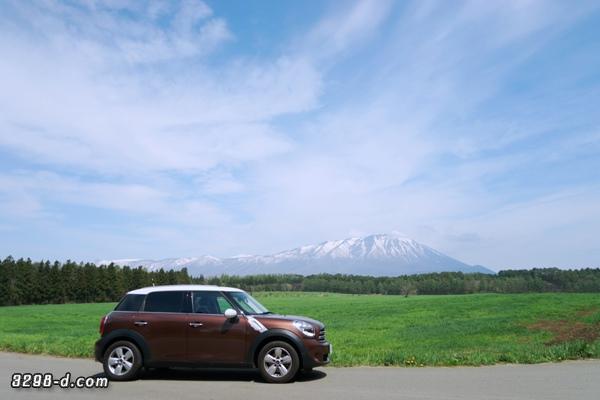 初夏に残る雪山ホワイトルーフ景色 ミニクーパーD クロスオーバー(R60)でのドライブ記録